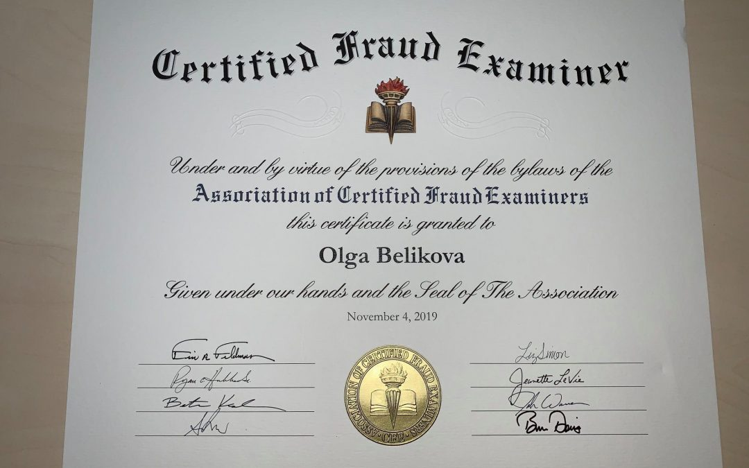 Olga Belikova – Certified Fraud Examiner